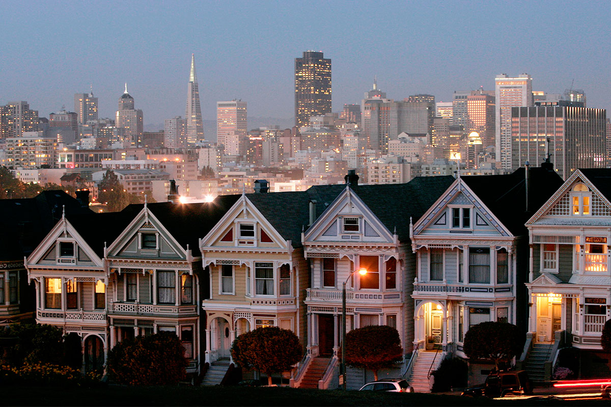 These iconic Victorian homes, featured in the '90s sitcom 'Full House' and known as 'the Painted Ladies,' are among San Francisco's most photographed tourist attractions. Situated in the ritzy Alamo Square neighborhood, the homes also represent the city's extremely high cost of living. (Marcio Jose Sanchez/AP Photo)