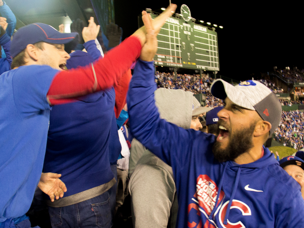 A photo from Game 5 of the World Series at Wrigley Field.   The Chicago Cubs defeated the Cleveland Indians 3-2 to advance to 2-3 in the series. Andrew Gill/WBEZ.