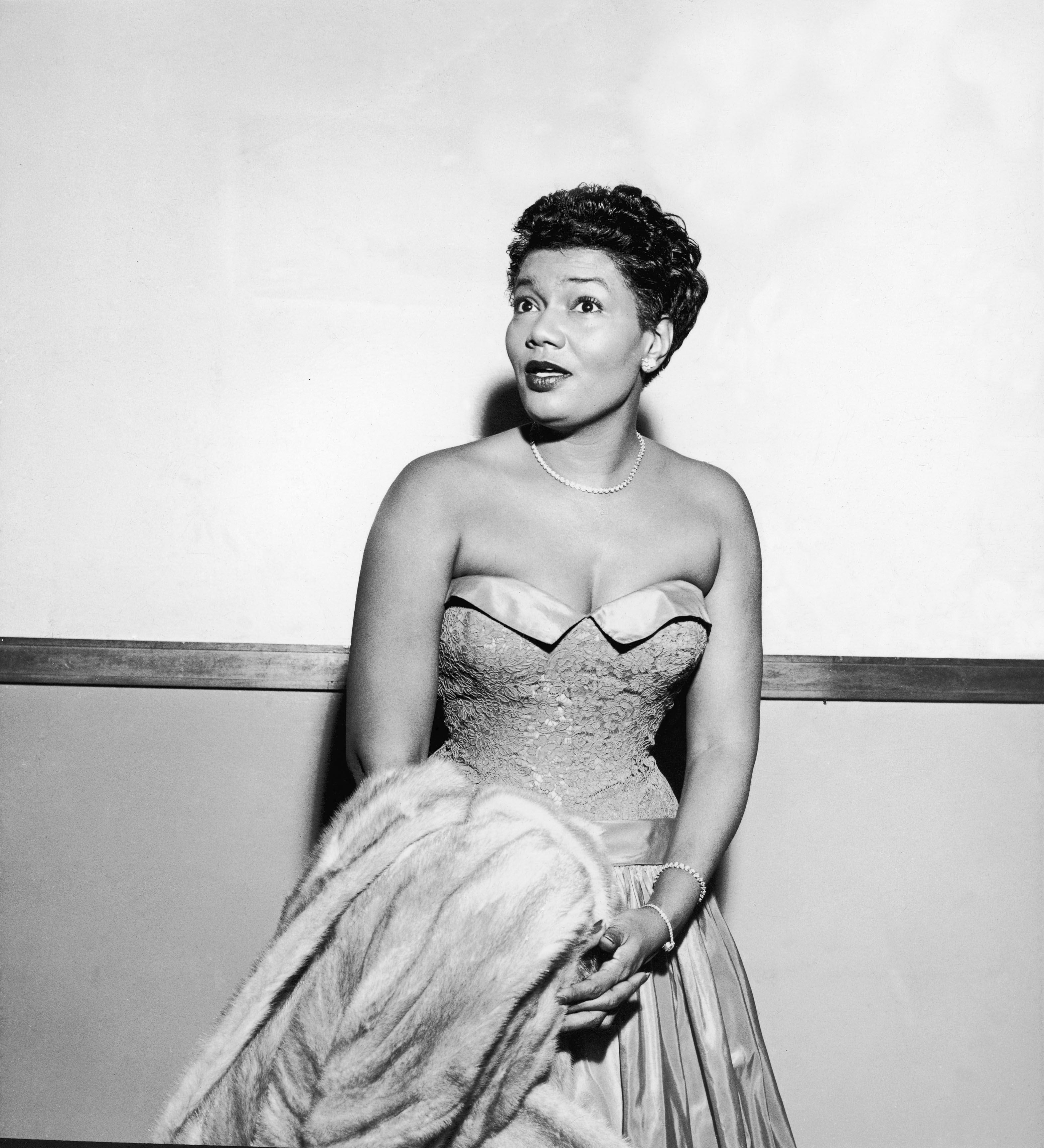 Legendary entertainer Pearl Bailey is photographed in 1954.