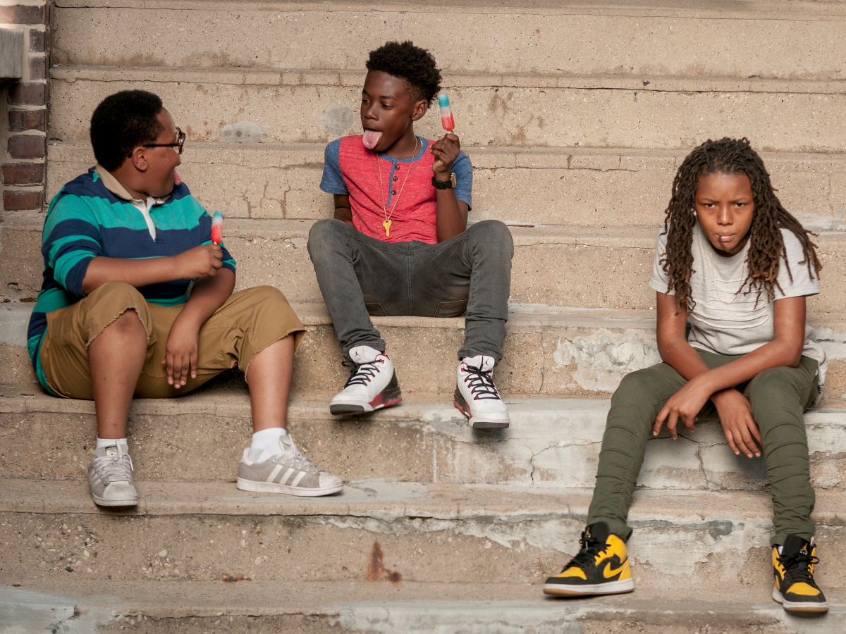 Shamon Brown as Papa, Alex Hibbert as Kevin and Michael Epps as Jake in 'The Chi.' (Matt Dinerstein/Showtime)