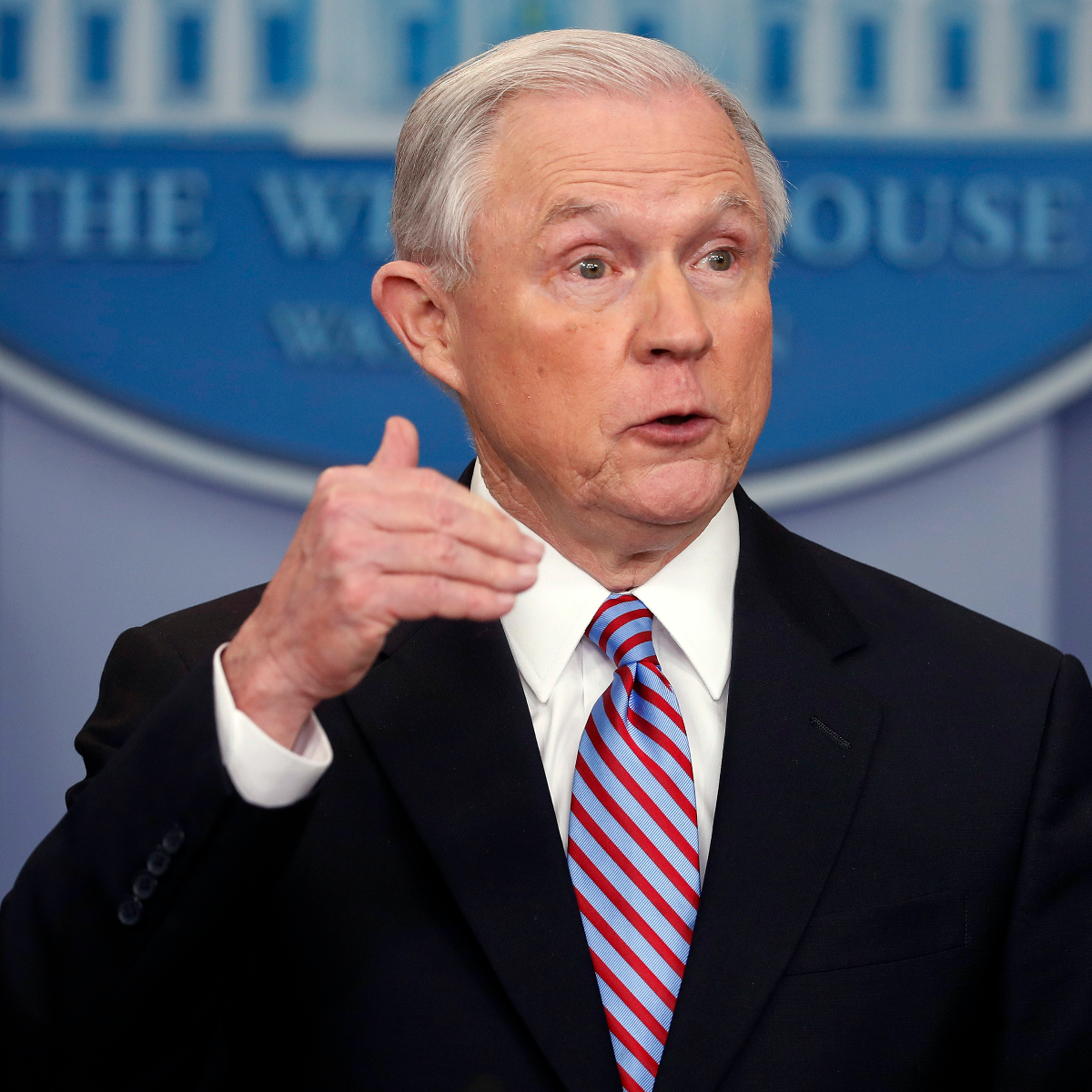 In this March 27, 2017, file photo, Attorney General Jeff Sessions speaks in the Brady Press Briefing Room of the White House in Washington. An agreement negotiated under the Obama administration to overhaul the troubled Baltimore Police Department will go ahead despite objections from the Trump administration. Sessions is warning that the consent decree may 'result in a less safe city.' (AP Photo/Pablo Martinez Monsivais, File)
