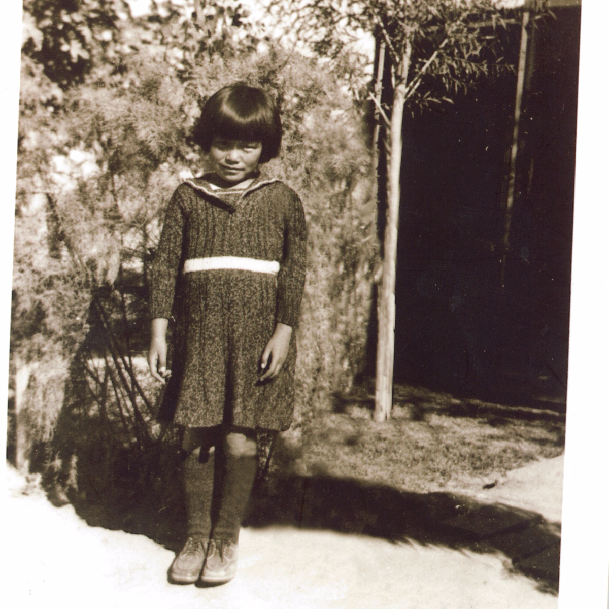 Jean Mishima at age 6 when she was taken to the internment camp in Gila River, Arizona. (Courtesy of Jean Mishima)
