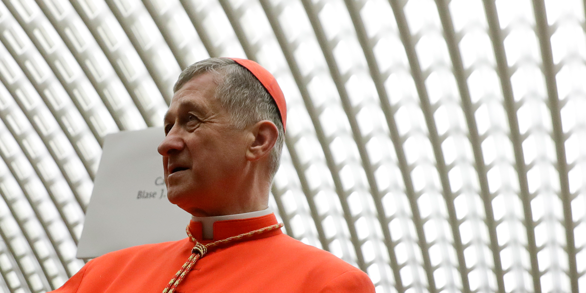 Cardinal Blase Cupich meets new cardinals in the Paul VI hall at the Vatican on Nov. 19, 2016. Cupich personally lobbied the state to pass the controversial new tax credit scholarship program. (Gregorio Borgia/AP Photo)