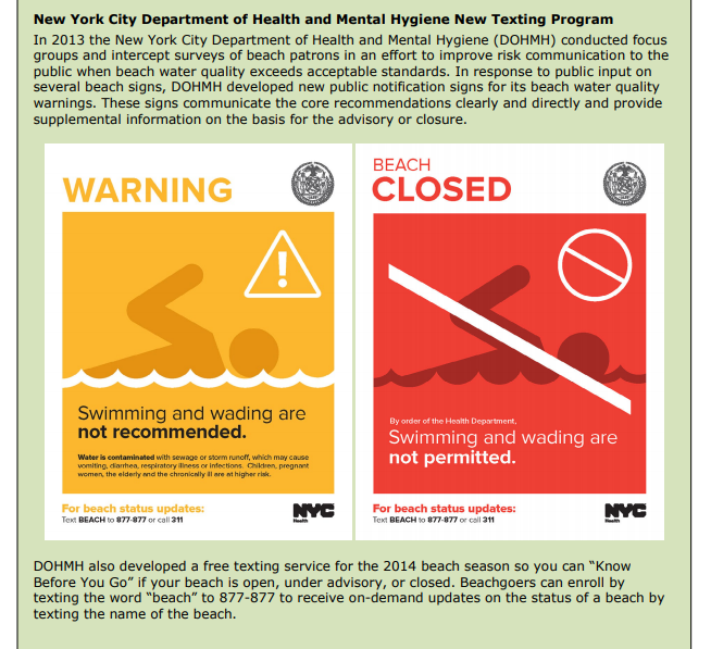 A screen grab from the New York City Department of Health and Mental Hygiene's website.
