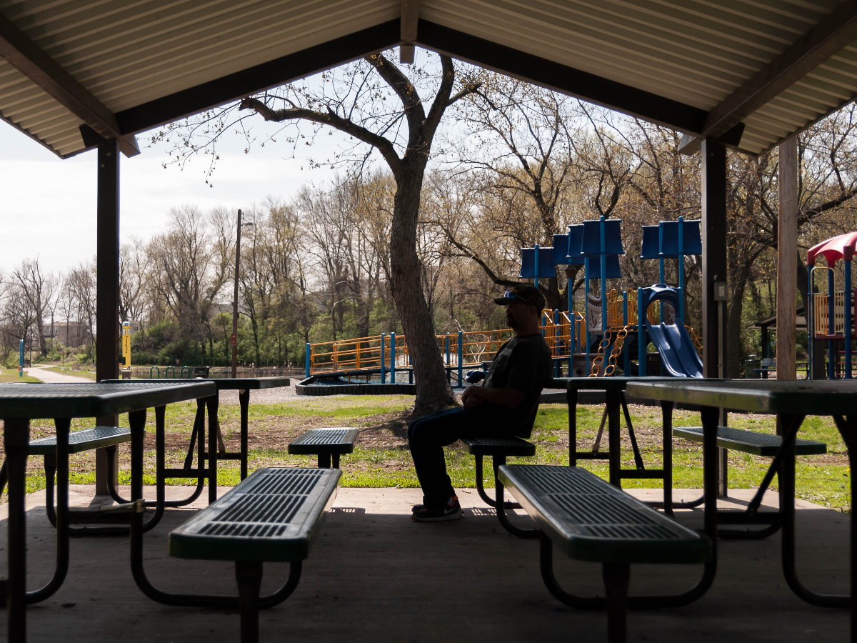 After getting out of prison, John Ellis went straight into homelessness. (Ryan Delaney for WBEZ)