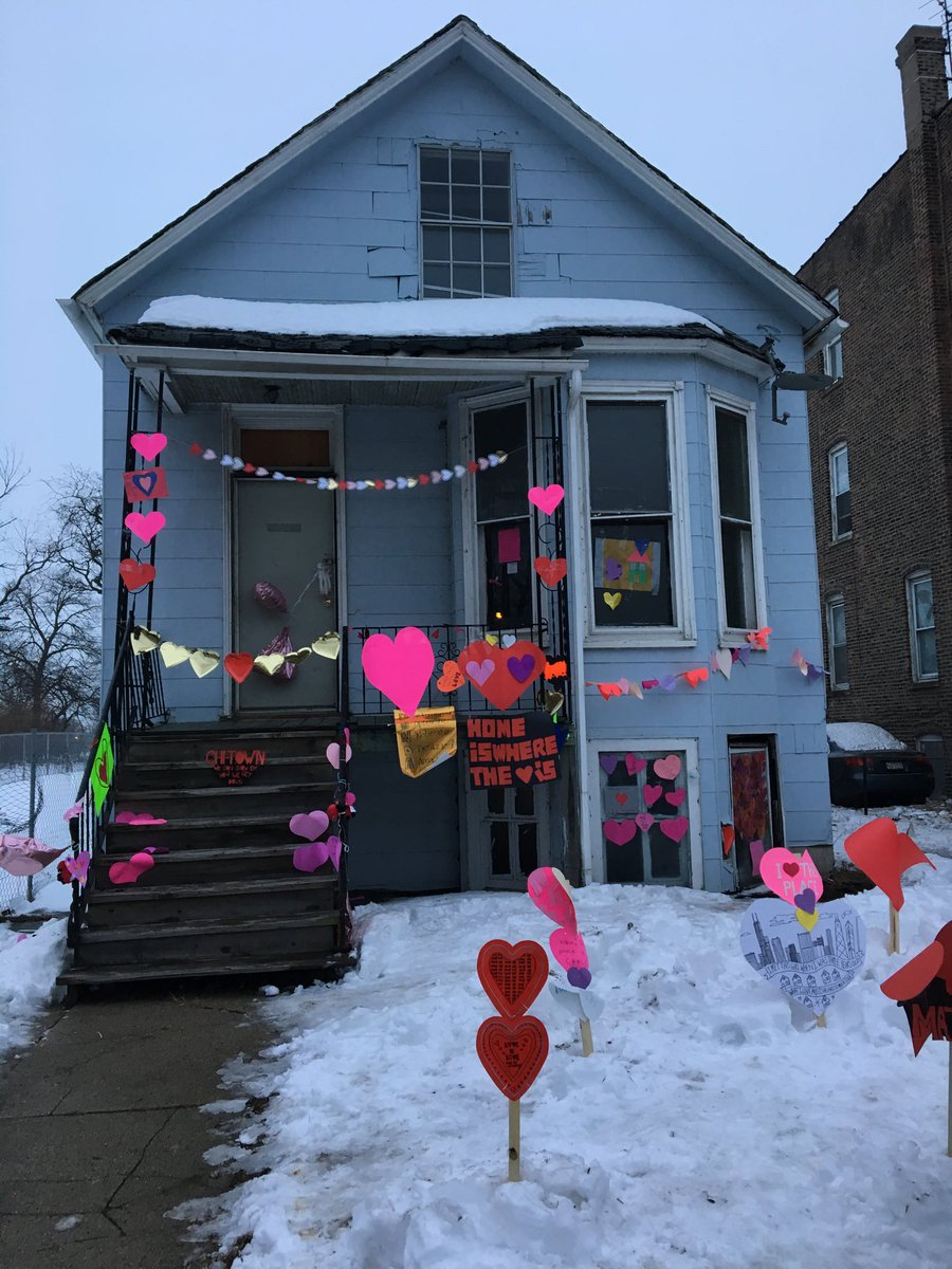 Donda West's former house in Chicago's South Shore neighborhood in February 2018. (Carrie Shepherd/WBEZ)