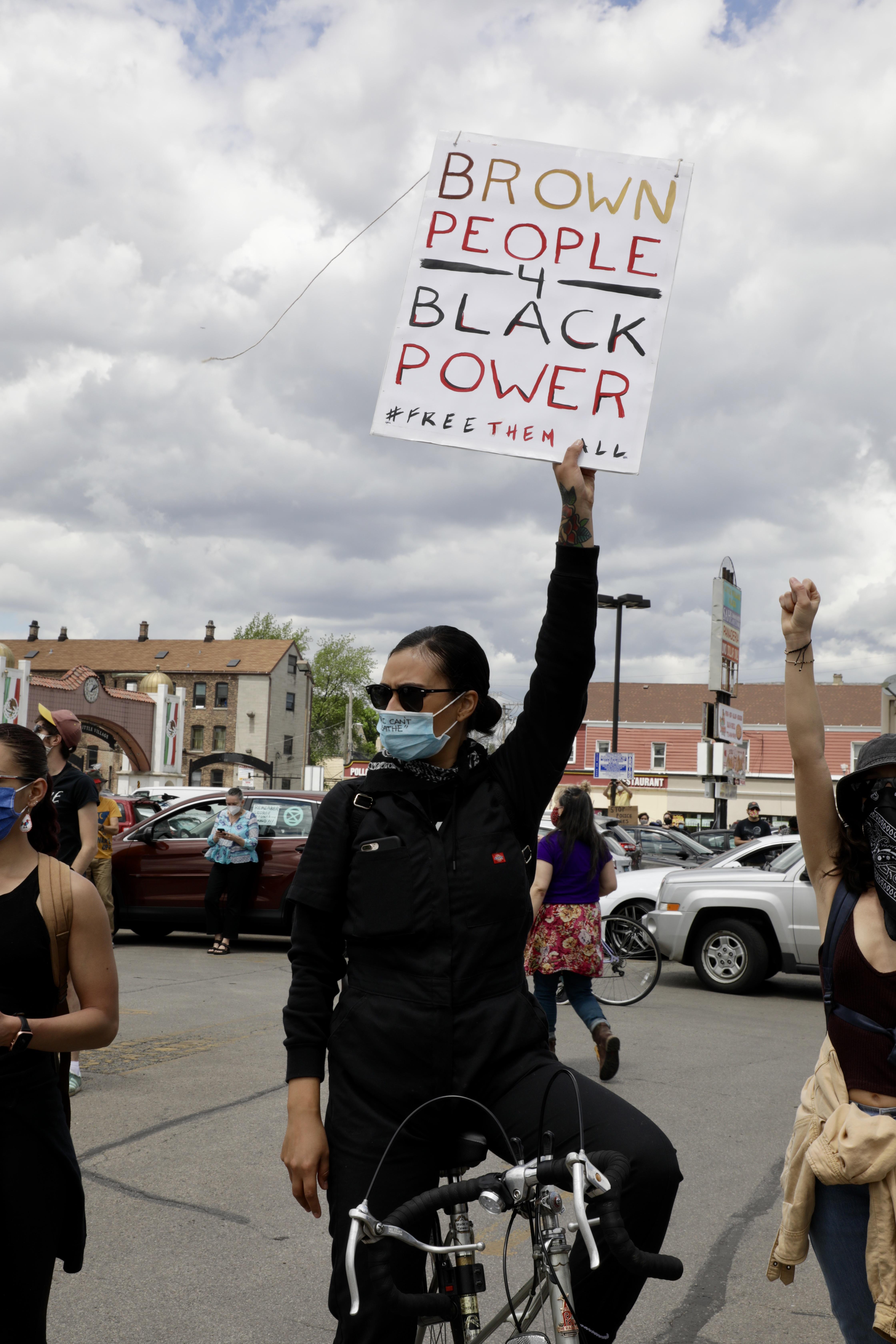 Brown black power poster