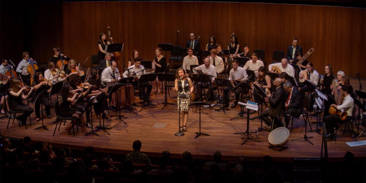The Middle East Music Ensemble, a 45-piece orchestra, is holding 'The Arab Concert' on Saturday at 7 P.M. on the University of Chicago campus in Hyde Park. (Photo courtesy of University of Chicago)