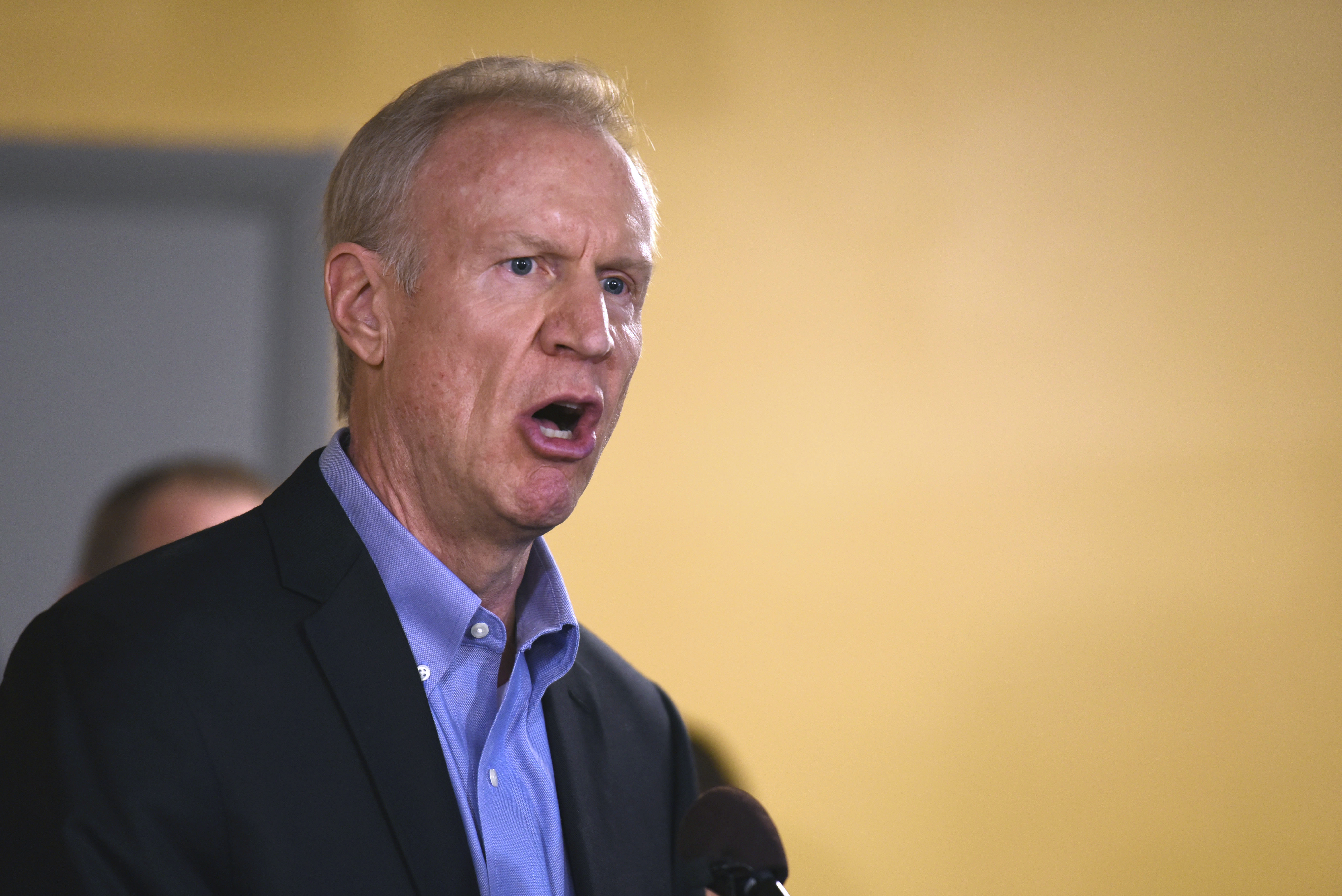 Gov. Bruce Rauner speaks during a news conference on July 5, 2017 in Chicago. (G-Jun Yam/Associated Press)