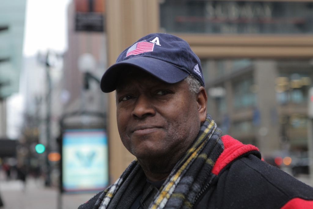 Bryant Cunningham, a former bus driver, lived without a home on-and-off for three years, after a series of heart attacks left him unable to work. (WBEZ/Maggie Sivit)