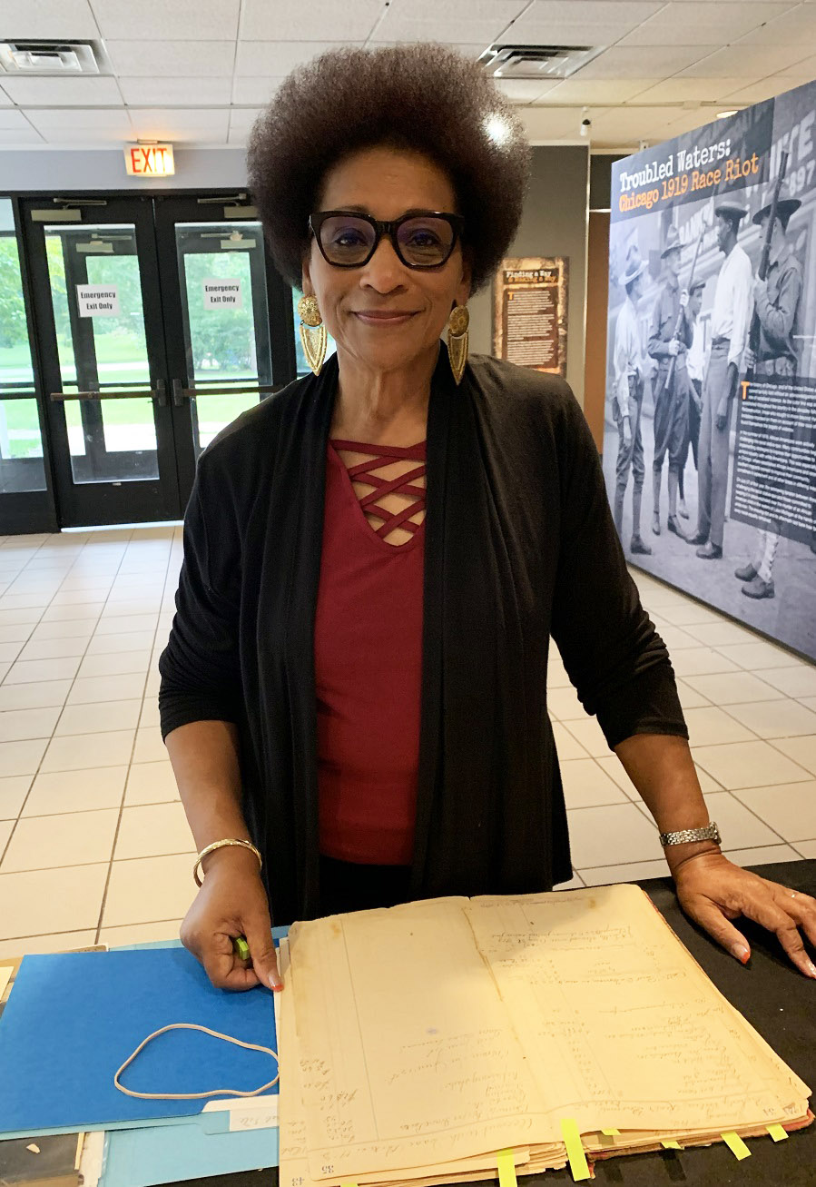 Howard Ann Kendrick visited the DuSable Museum to digitize some of her family's historical documents.
