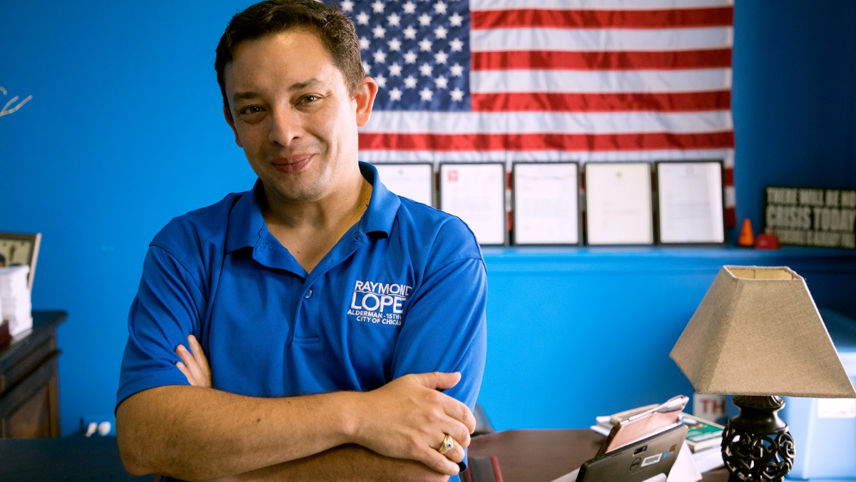Ald. Raymond Lopez, 15th Ward, at his office in June 2017. Lopez has seen reduced violence in his South Side ward, a trend he partly attributes to better communication between residents and police.