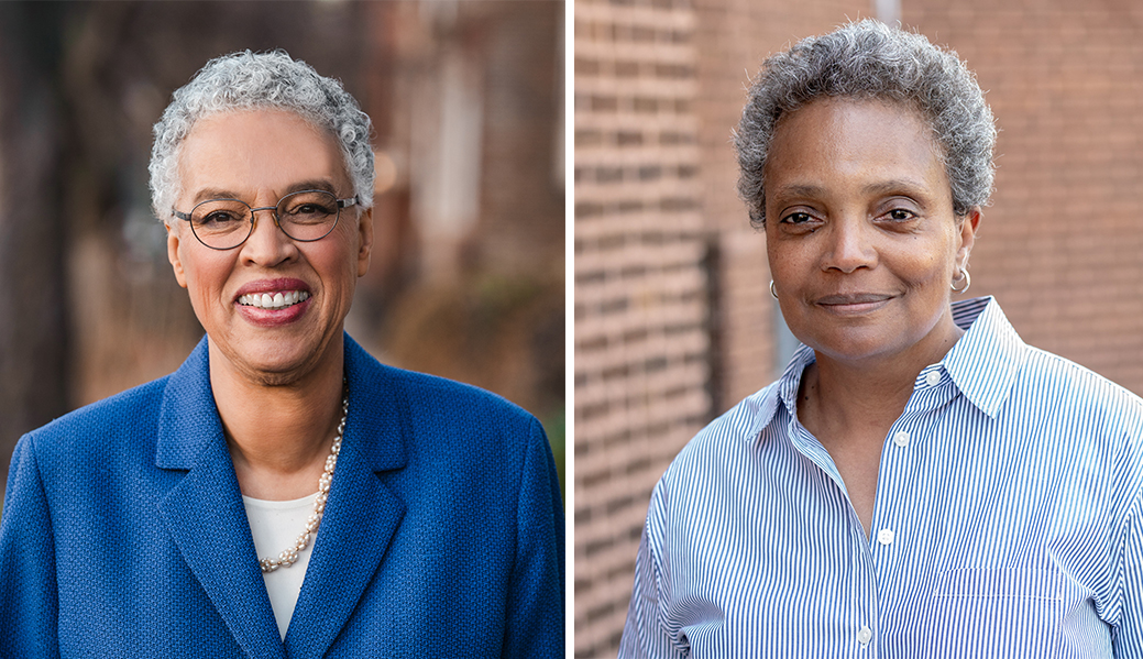 Lori Lightfoot and Toni Preckwinkle