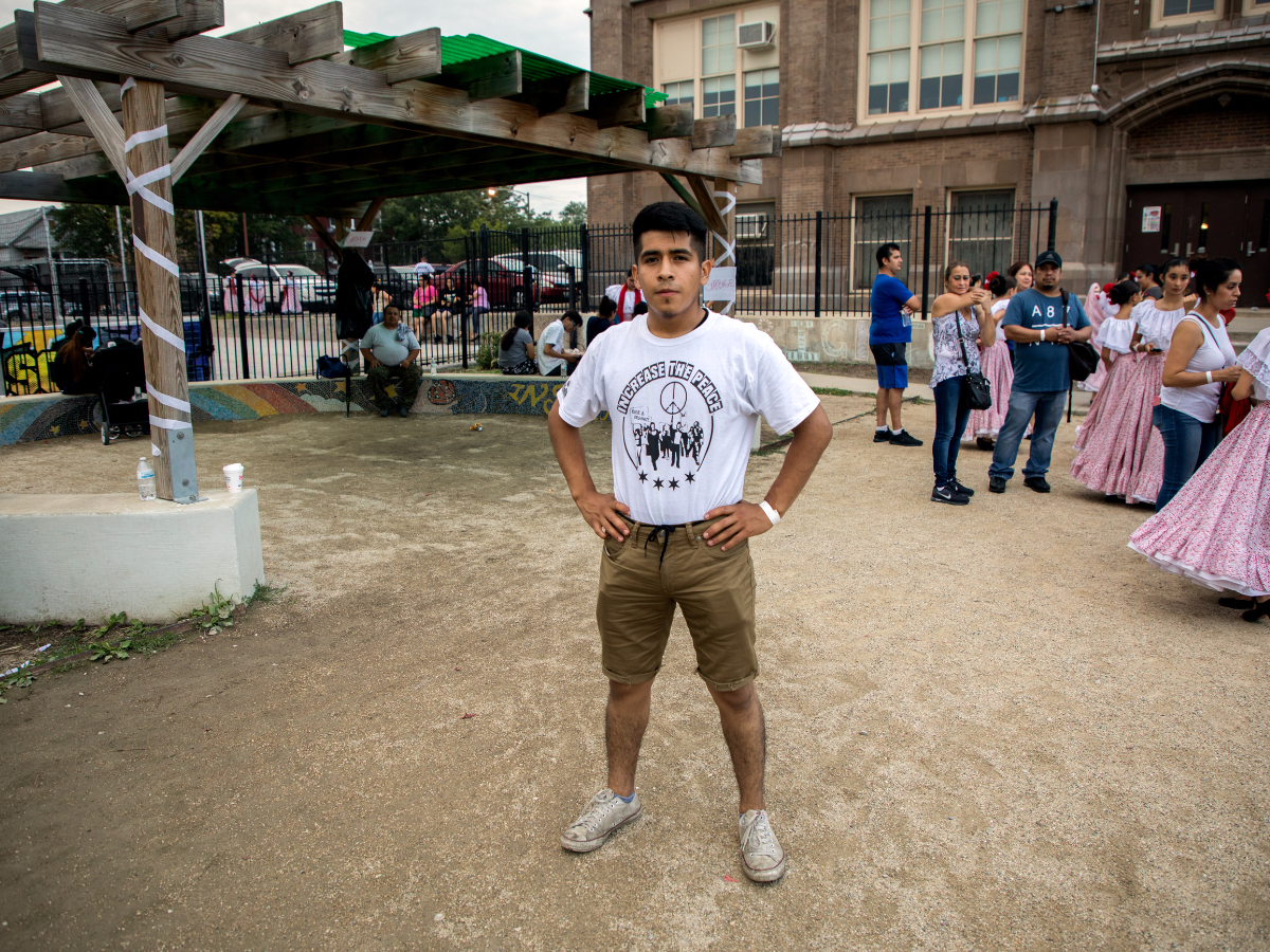 Rafael, 22, from Englewood, is a volunteer and youth leader with 'The Resurrection Project.'