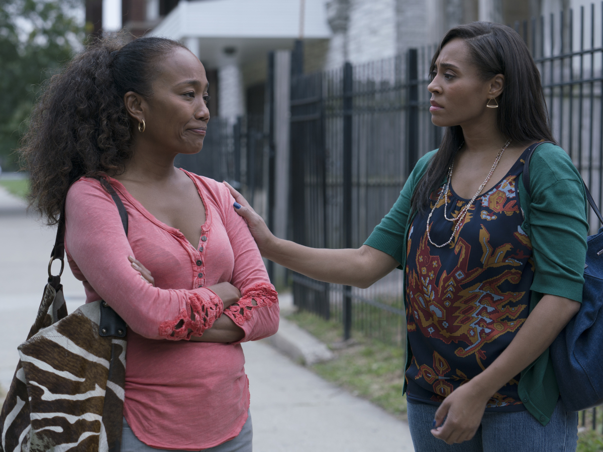 Sonja Sohn as Laverne and Tai Davis as Tracy. (Parrish Lewis/SHOWTIME)