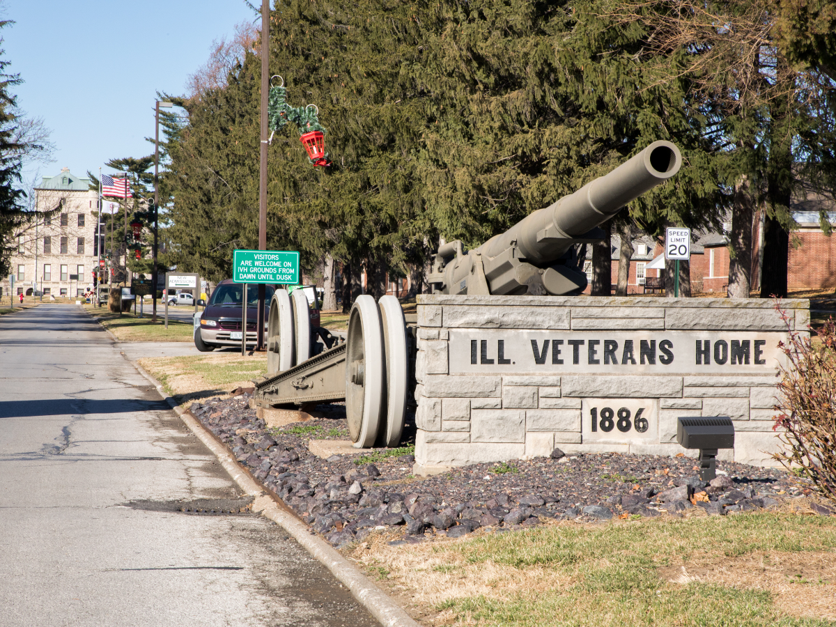 Since 2015, a Legionnaire's disease outbreak at the Illinois Veterans Home in Quincy has contributed to the deaths of 13 residents and sickened dozens more. (Andrew Gill / WBEZ)