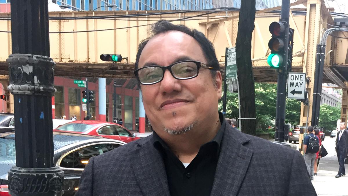Former UNO Charter School Network Board President Juan Rangel. (Adriana Cardona Maguigad/WBEZ)