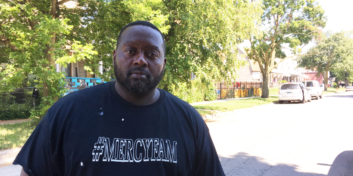 George Porter, 50, said the 6500 block of South Sangamon Street in Chicago's Englewood neighborhood was once stable and vibrant. This year, 13 properties on the block will be listed in the 2019 scavenger tax sale, which features some of the most financially distressed properties in Cook County.