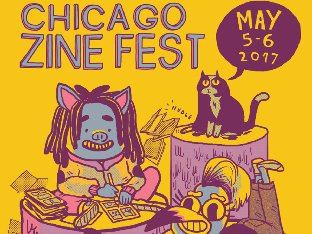 Zine Fest takes place the weekend of May 5 and 6, 2017, at multiple Chicago locations. (Artwork by Mike Centeno; Courtesy of Chicago Zine Fest)