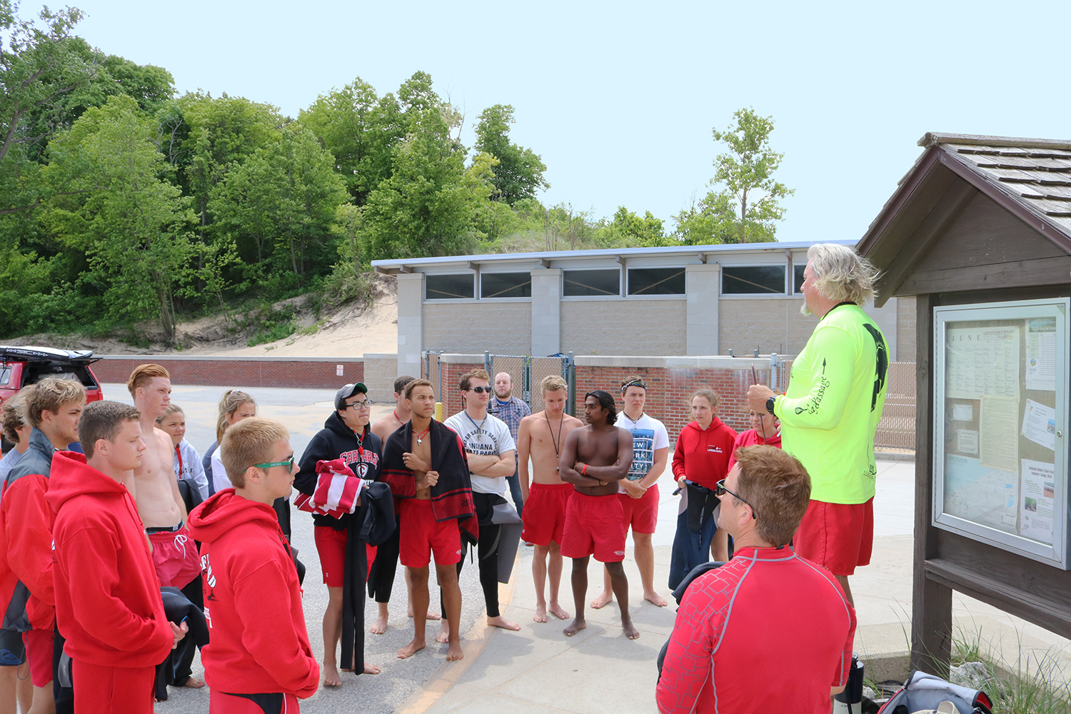 The Great Lakes Surf Rescue Project trains lifeguards on water safety and drowning survival strategies. (Courtesy Dave Benjamin)