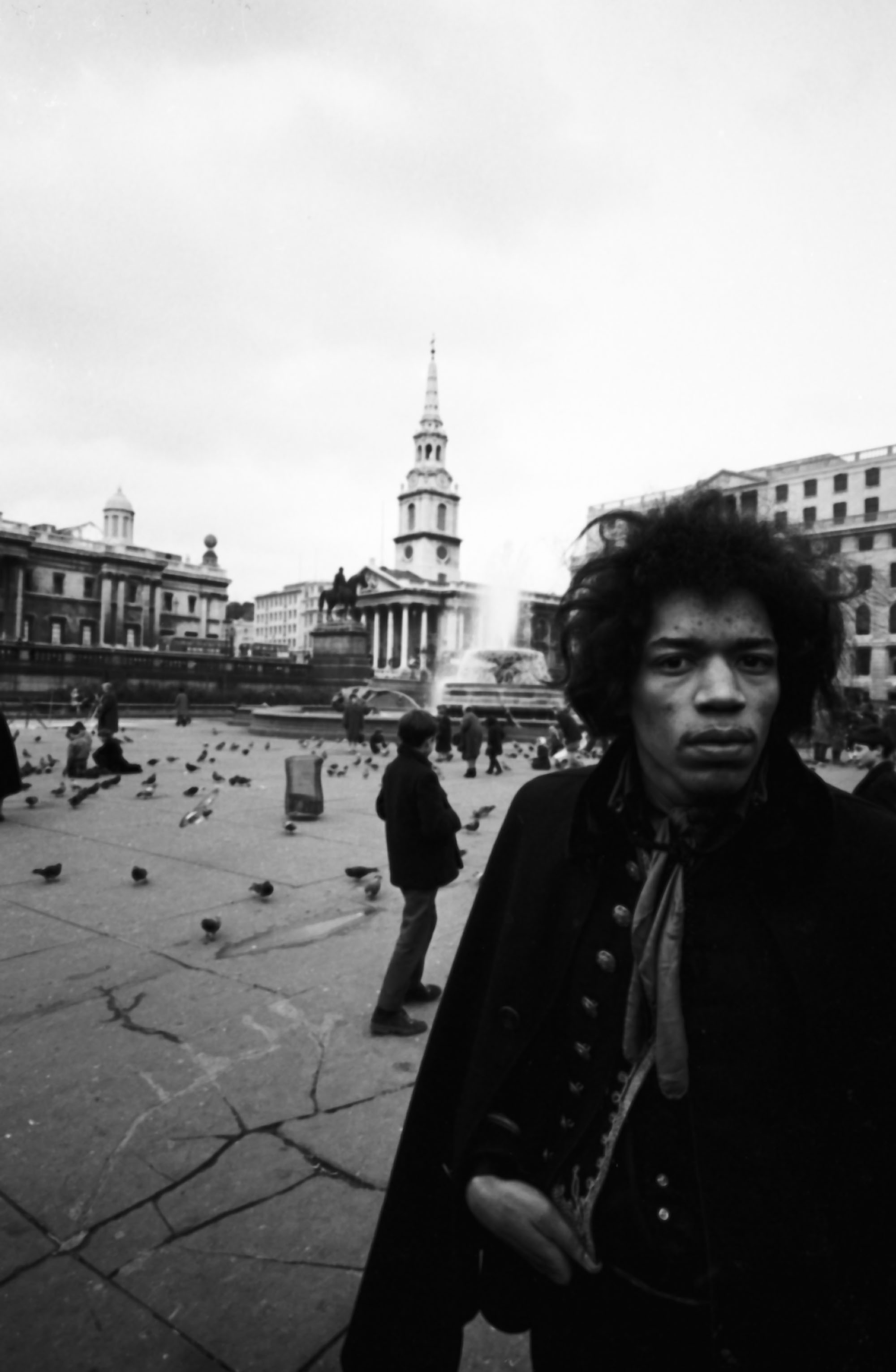 In this archive photo, rockstar Jimi Hendrix is photographed in London, England.