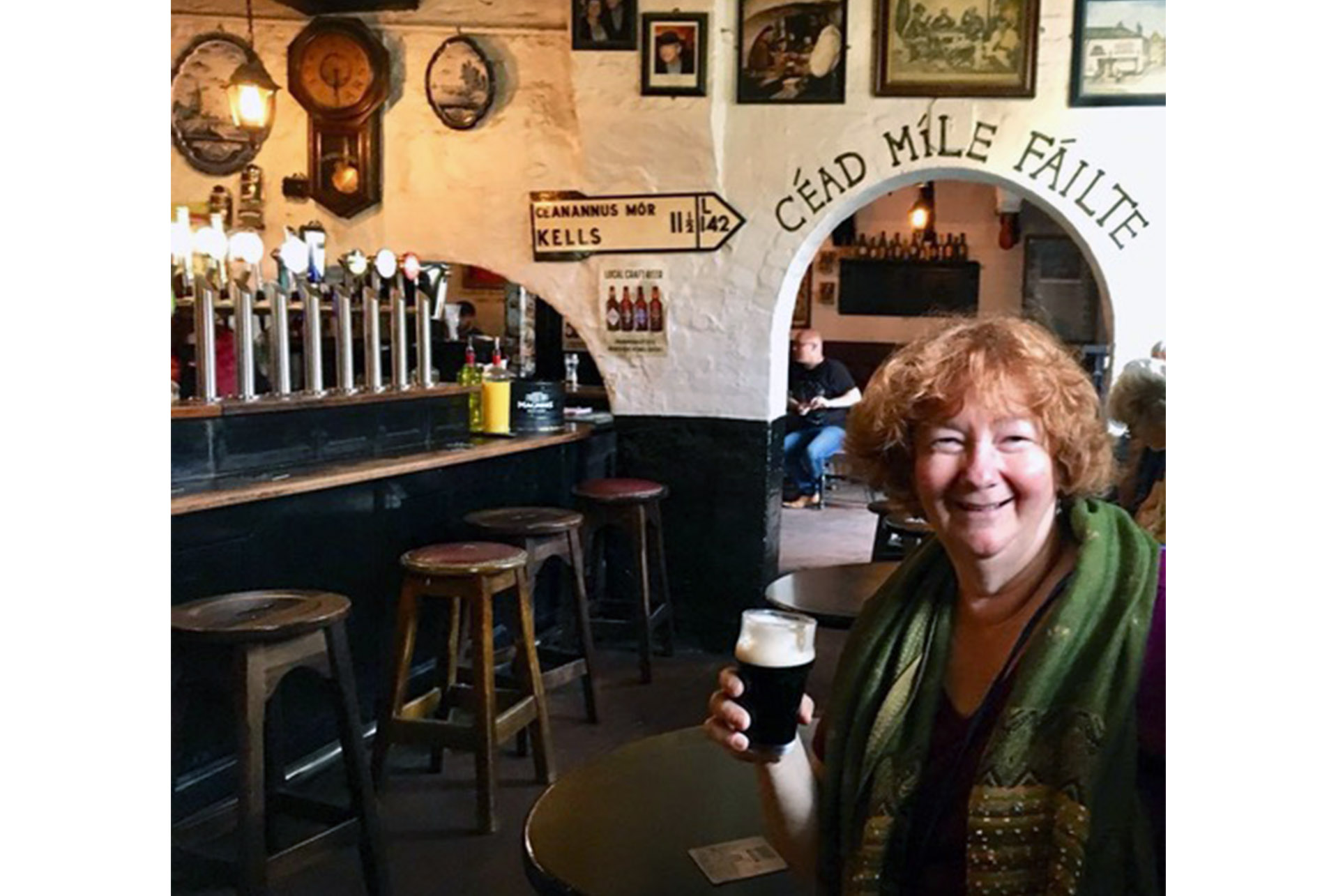 Last month, Mary visited Kelly's Cellars, an historic Belfast pub. (Courtesy Mary Nell Murphy)