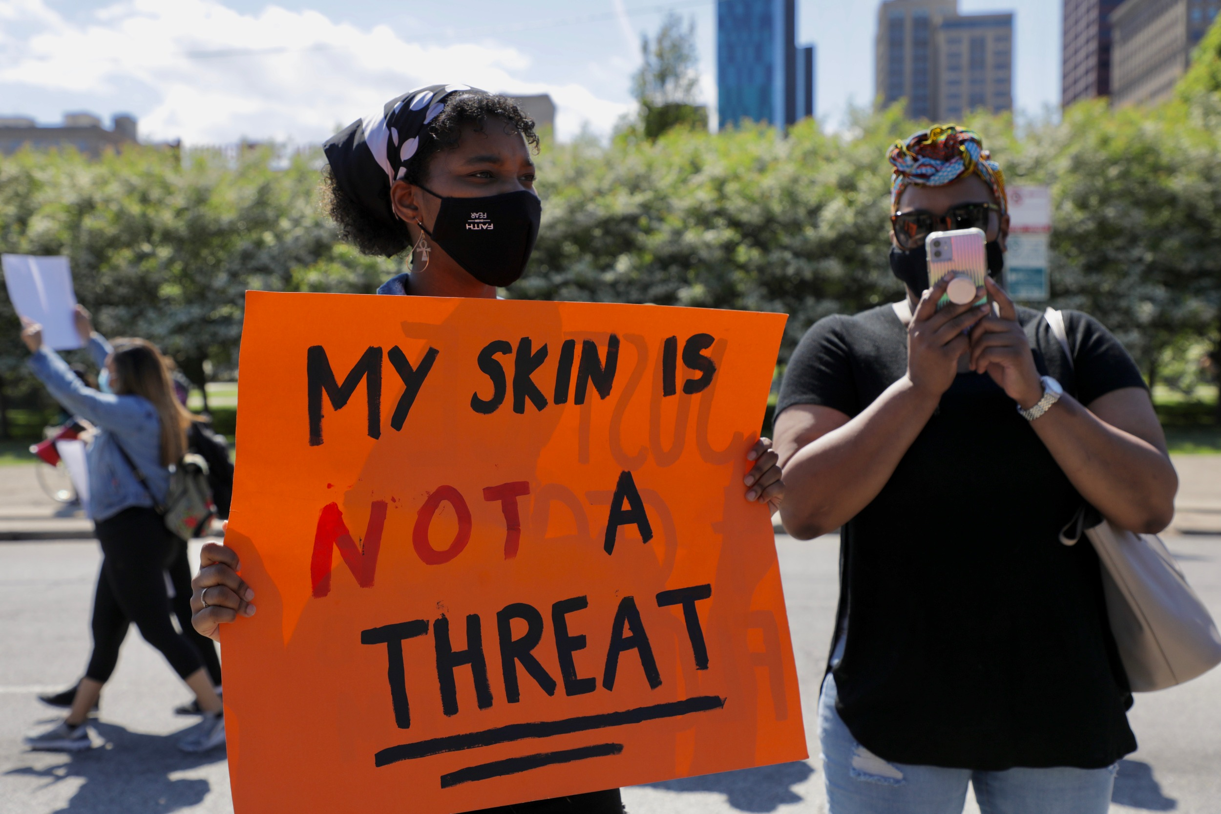 My skin is not a threat poster