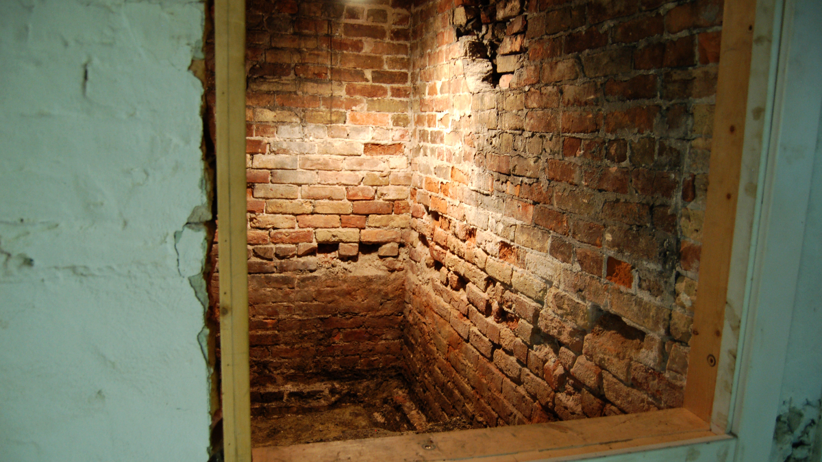A hidden room in the basement got homeowner David Cloud wondering about its history.(Susie An/WBEZ)