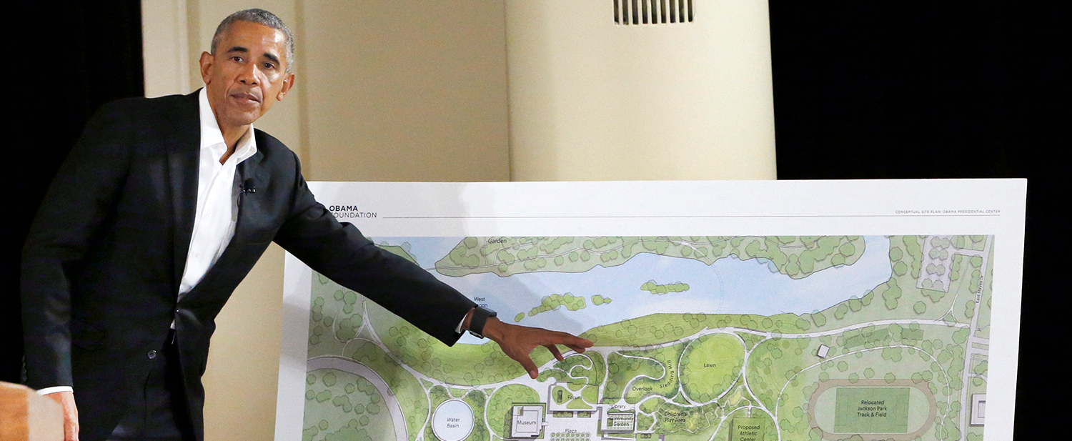 Community groups are pushing for the University of Chicago to back a Community Benefits Agreement, or CBA, related to the future Obama Presidential Center in Jackson Park. These groups are worried the development will drive up rent prices and force longtime residents out of the neighborhood. (AP Photo/Nam Y. Huh)