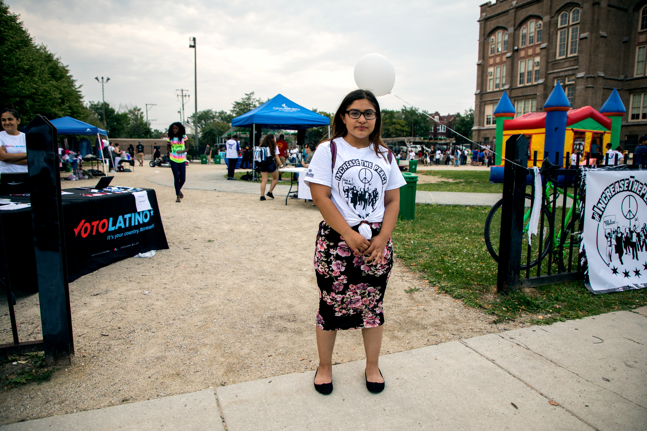 Martinez, 15, from Back of the Yards, is a volunteer and youth leader with 'The Resurrection Project.'
