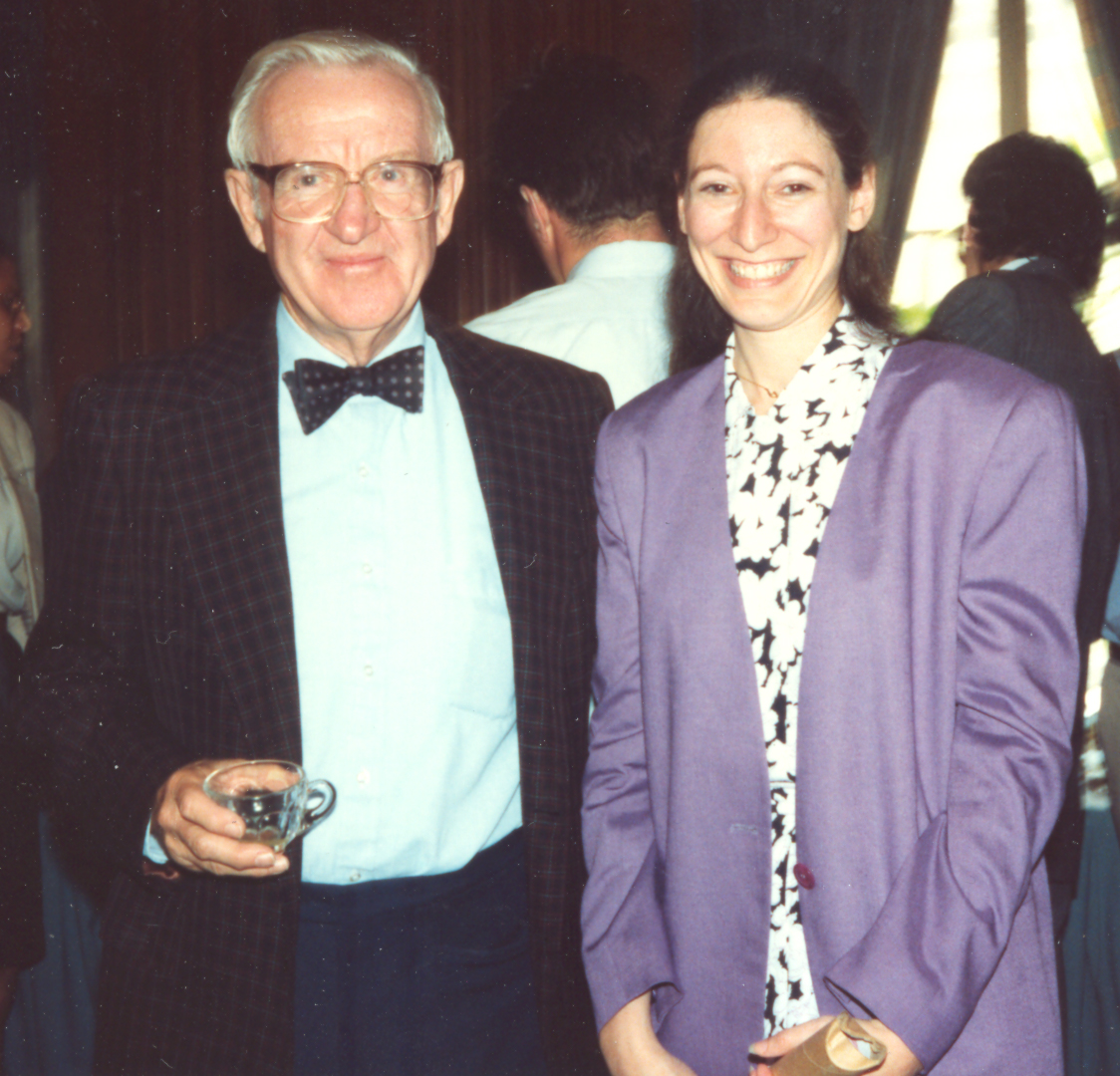 John Paul Stevens with Nancy Marder