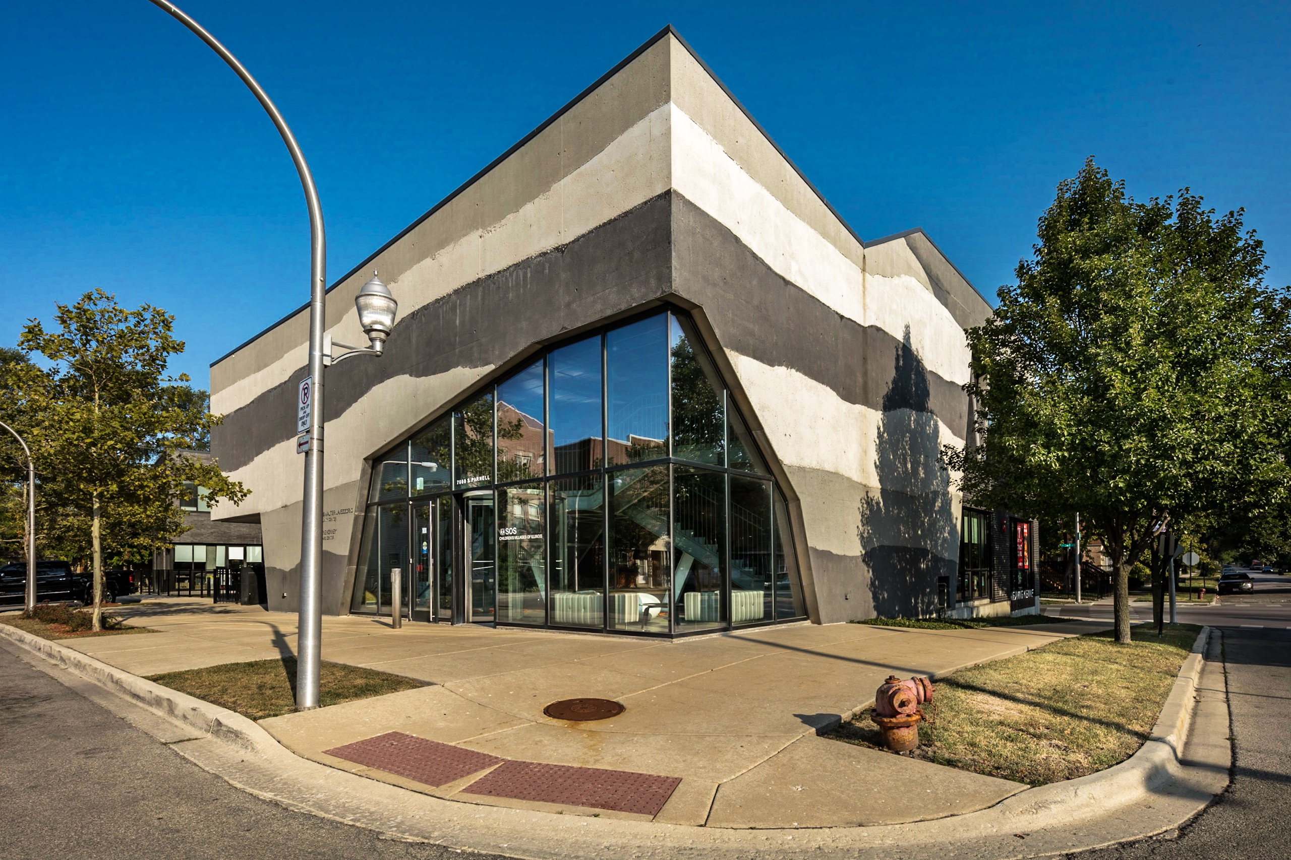 Lee says the exhibit offers 'a complimentary look' of South Side architecture. Shown here is the Lavezzorio Community Center at 76th Street and Parnell Avenue. (Lee Bey/DuSable Museum of African American History)