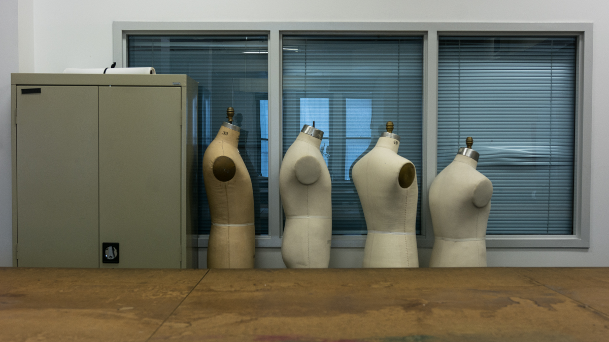 Mannequins stand in wait for the fall semester at Columbia College. (Sebastian Hidalgo/WBEZ)