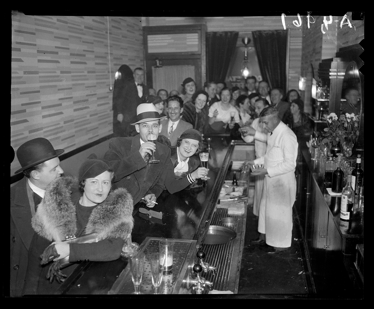 Celebrating end of Prohibition bar