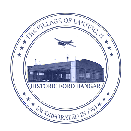 The village seal of Lansing depicts the Ford Hangar.