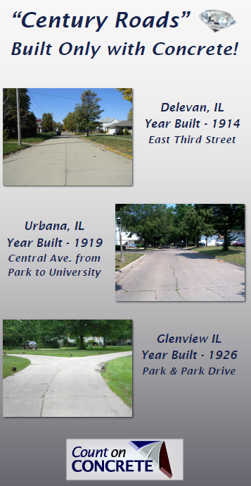 A flyer from the Illinois Chapter of the American Concrete Pavement Association. (Courtesy American Concrete Pavement Association)
