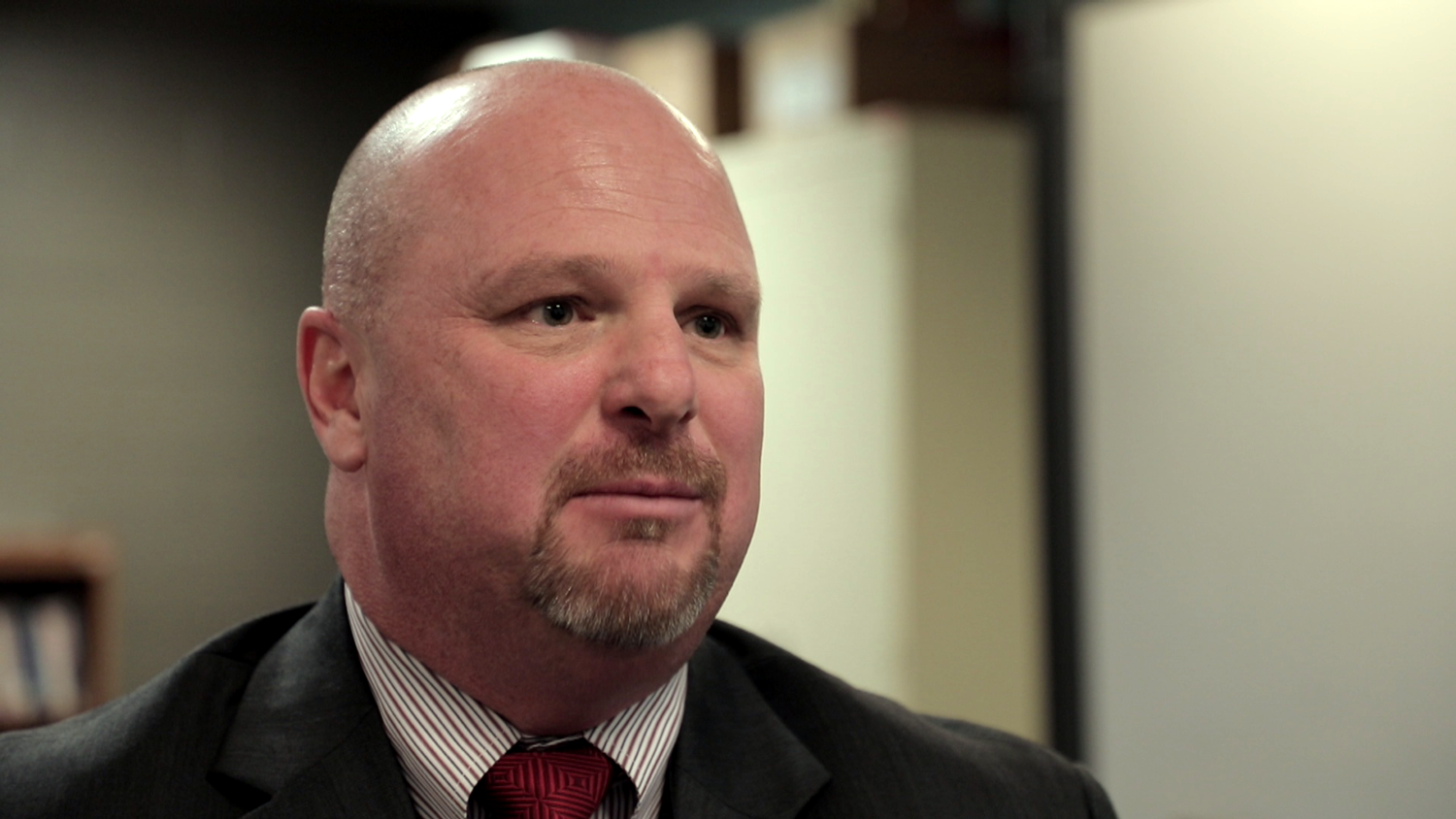 Charles Johnson is the warden of Kewanee Life Skills Re-Entry Center. (WBEZ/Andrew Gill)