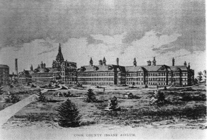 The Cook County Insane Asylum at Dunning in the late 1800s.