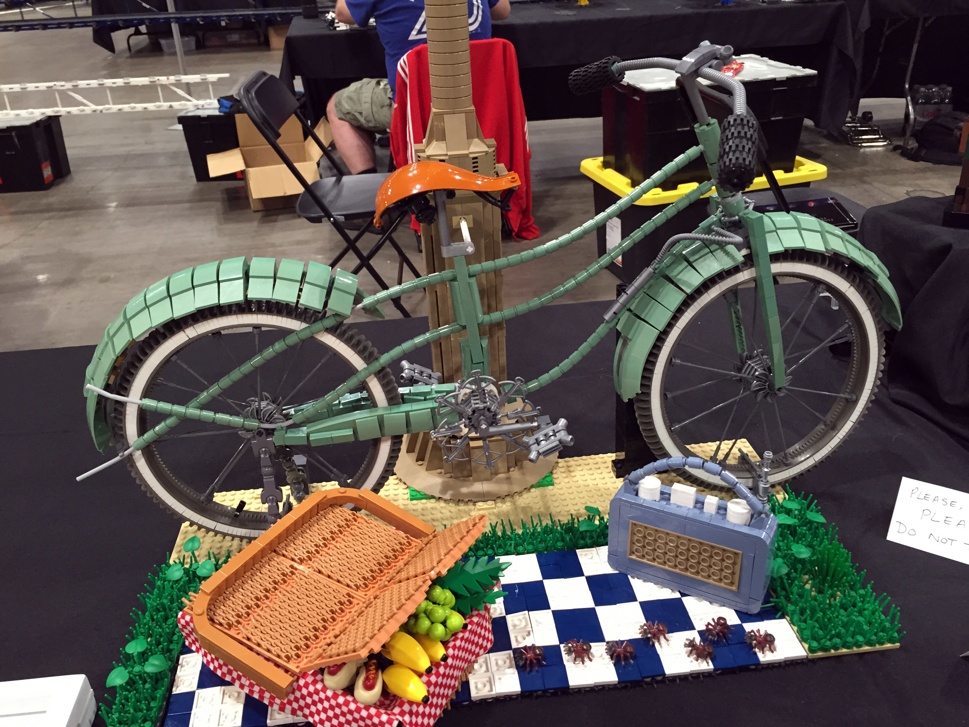 This June 2017 photo taken at Brickworld Chicago shows a picnic, Lego-style, complete with ants. (Marcia Dunn/AP Photo)