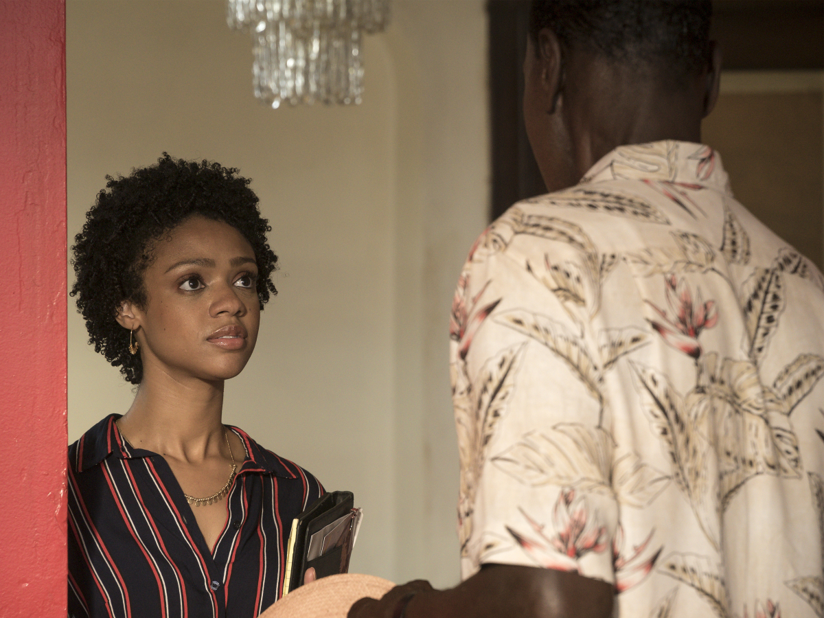 Tiffany Boone as Jerrika and Steven Williams as Quentin. (Matt Dinerstein/SHOWTIME)
