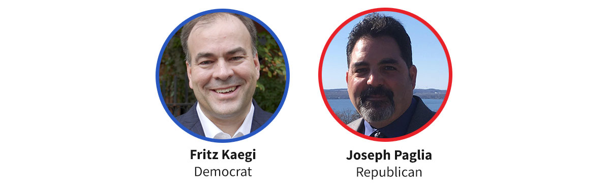 Images Democratic candidate Fritz Kaegi and Republican candidate Joseph Paglia