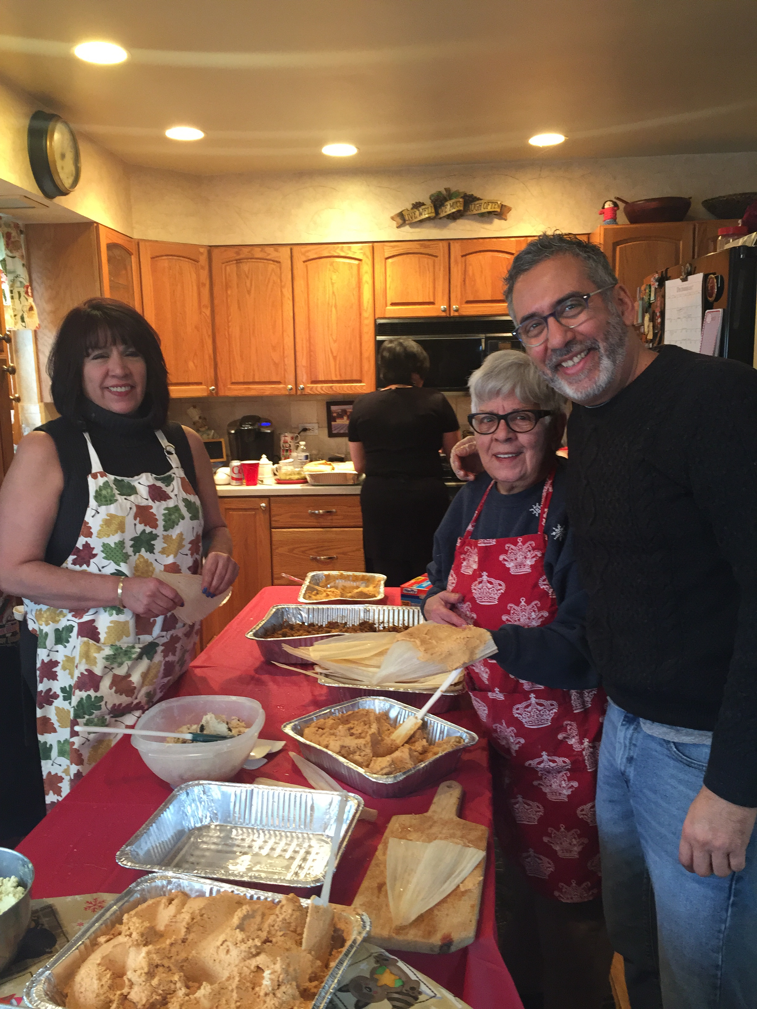 Morning Shift host Tony Sarabia makes tamales with his mother and oldest sister, Alida. (Courtesy of Tony Sarabia)