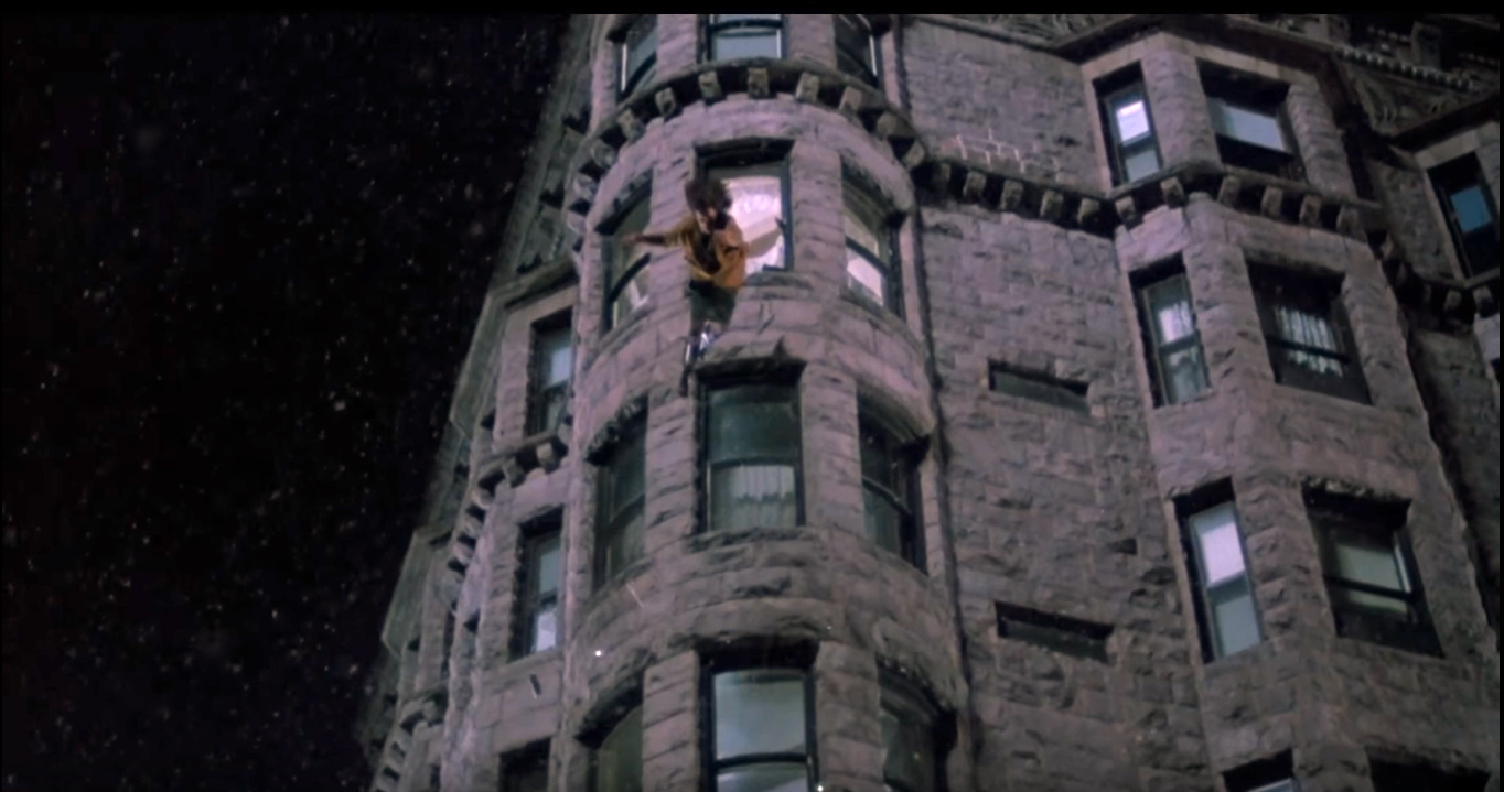 The beautiful exterior of the Brewster building was captured in a scene from 'Child's Play' when Chucky pushes a babysitter out of a window. (Photo courtesy of MGM)