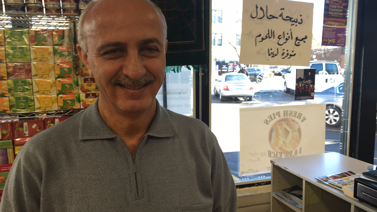 Walid Haddadian in the Dukan International Food Market in Albany Park Nov. 9, 2016. (Odette Yousef/WBEZ)