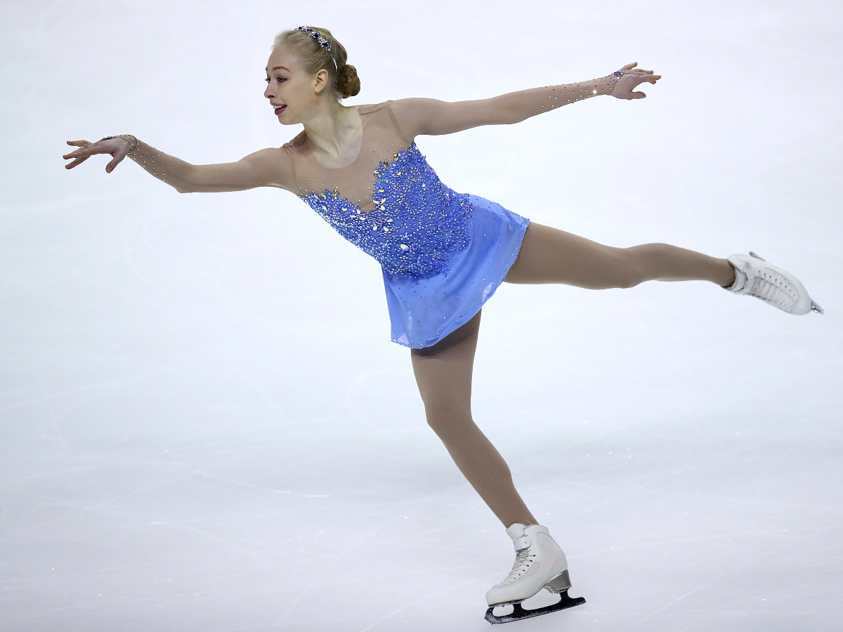 Bradie Tennell performs during the women's free skate event at the U.S. Figure Skating Championships in California on Jan. 5, 2018. (AP Photo/Ben Margot)