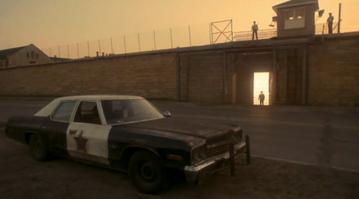 'The Blues Brothers' opens on a sunrise over the walls of the old Joliet prison. (YouTube)
