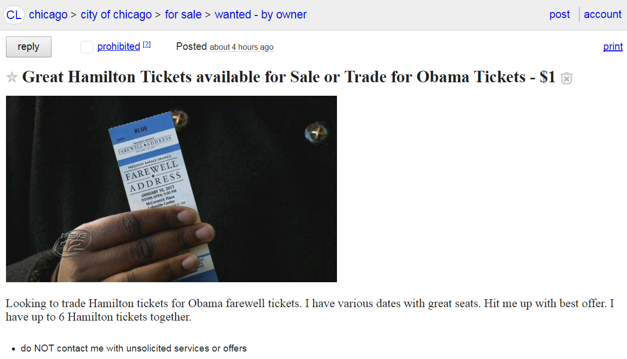 Screenshot from Craigslist Chicago.