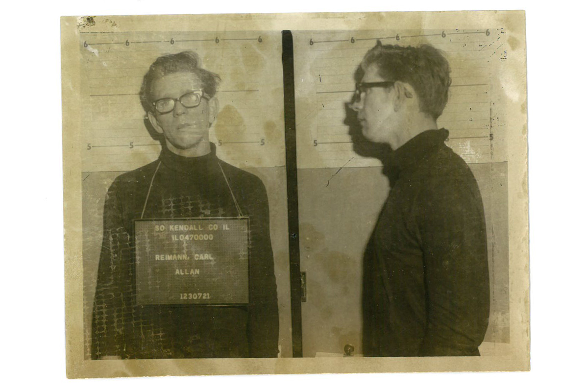 Photos of Carl Reimann after his arrest in 1972. (Kendall County Sheriff's Office)