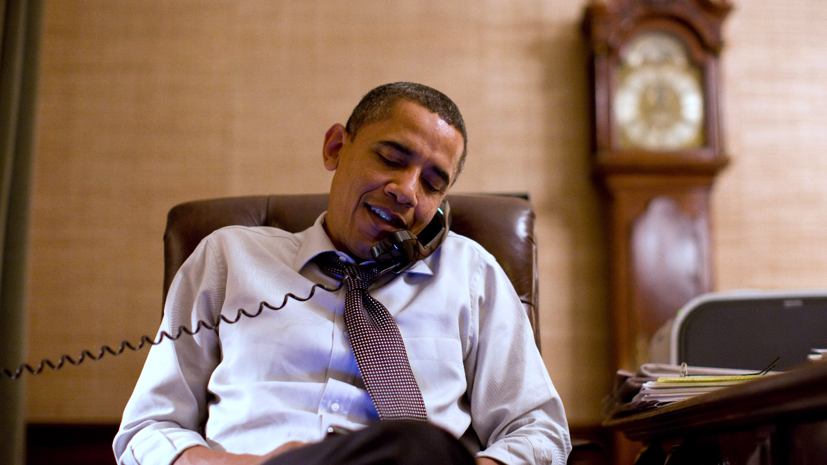 In this image released by the White House, President Barack Obama makes an election night phone call to Rep. John Boehner, R-Ohio, who will most likely be the next House Speaker, from the Treaty Room in the White House residence on Nov. 2, 2010, in Washington. (AP Photo/The White House, Pete Souza)
