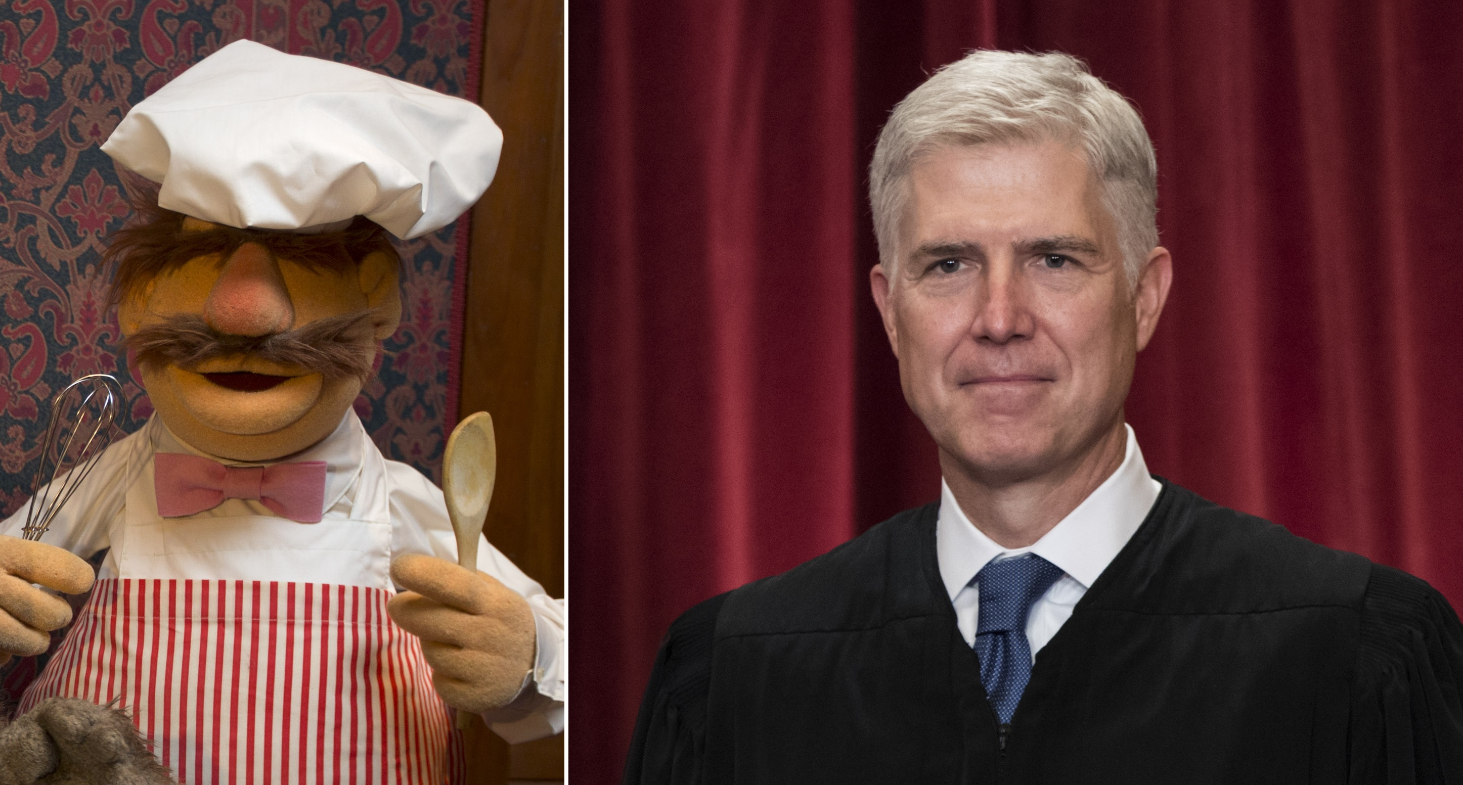 Neil Gorsuch? The Swedish Chef, says Lithwick. (Jacquelyn Martin/AP, J. Scott Applewhite/AP)